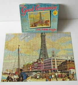 Vintage Good Companion The Tower, Blackpool 400 piece Jigsaw Puzzle *Complete*