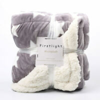 Weighted Flannel Fleece Throw Super Soft Cozy Thick Sherpa Microplush Blanket