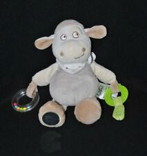Peluche doudou mouton beige MOTS D'ENFANTS activités dentition 26 cm TTBE