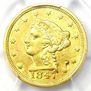 1847-C Liberty Gold Quarter Eagle $2.50 Charlotte - Certified PCGS XF Details
