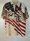 American Summer Clothing Co. Mens XXL Polo Shirt Mt. Rushmore Patriotic lot x461