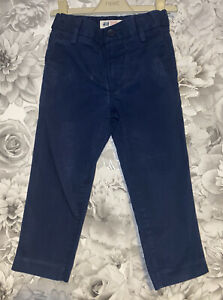 Boys Age 3-4 Years - H&M Navy Chino Trousers