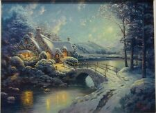 Thomas Kinkade Christmas Moonlight canvas  18 by 24 limited edition