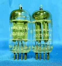 Vintage Tung Sol 12AX7 PLATINUM GRADE D Getter Tubes Matched Pair Tested 83% B16
