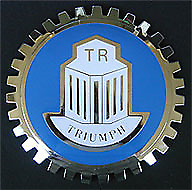 New Triumph Grill Grille Badge- Chromed Brass- Great Gift Item!