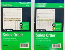 "Sales Order Ticket Receipt Book Carbonless 2 Part Form 4-316""x7-316""  X 2 Book"