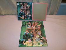 Complete ! Cabbage Patch Kids 24 Piece Puzzle Tree House Tire Swing Doll Friends