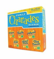 Charades Party Game - Family Charades-in-a-Box Compendium Board... Free Shipping