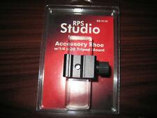 Flash/Speedlight Locking Accessory Shoe with 1/4-20 Threaded Foot Tripod Adapter