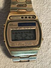 Vintage SEIKO First Solar Watch gold A156 5009 5000 Working
