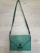 Authentic Rare Kate Moss for Longchamp Shoulder bag leather green convert France