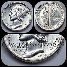 AU 1944-S Mercury Dime - San Francisco Mint - US 90% Silver Coin