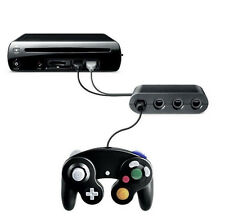 NEW 2015 GameCube GC Controller Adapter for Nintendo Wii U Super Smash Bros!!!