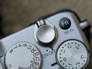 High Quality Shutter Button Soft Release Metal Concave Silver Olympus PenF Fuji