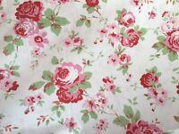 Cath Kidston Rosali IKEA Fabric Per Metre 150cm Width Floral Rose 100% Cotton