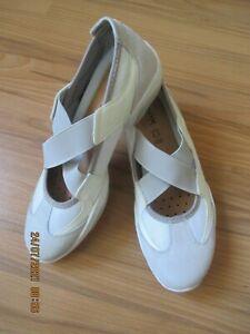 Geox Respira Sneaker / Slipper / Halbschuh Gr. 36 (3) grau/beige
