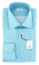 $325 Barba Napoli Blue Melange Shirt - Slim - 15.5/39 - (D2U135U10T)