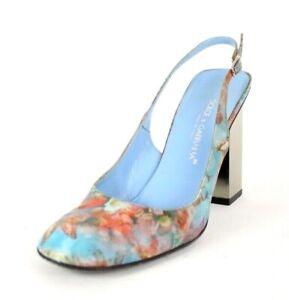 DOLCE & GABBANA Vintage Holographic Butterfly Floral Heels Slingbacks 38