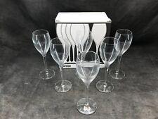 Lot de six flûtes à champagne, champagne Charles Colin fondé en 1952 État neuf
