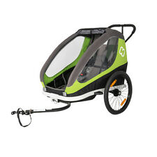 Hamax Traveller Twin Bicycle Trailer Green incl. Bicycle Arm & Stroller Wheel