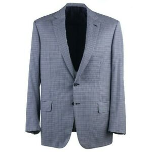 Brioni 'Colosseo' Sky Blue and Navy Houndstooth Check Wool Sport Coat 42R NWT