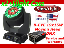 ShowLight BEE EYE 19x15W LED Moving Head w FLIGH CASE  (alt Clay Paky B-EYE K10)