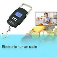 50KG Digital Travel Portable Handheld Weighing Luggage Suitcase Bag Scales T1Y5