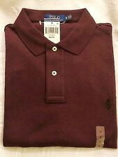 Dark Red Mens Ralph Lauren Polo Soft Touch S/S Collared Shirt sz XL New w Tags