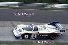 Derek Bell & Stefan Bellof Porsche 956 Nurburgring 1000 Km's 1983 Photograph