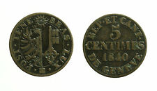 pci3492) Swiss Cantons. City of Geneva. 5 Centimes 1840