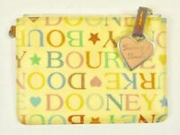 Vintage Dooney & Bourke Multi Color Signature ID Credit Card Coin Purse Wallet