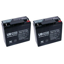 UPG 2 Pack - UB12220 REPLACEMENT HR22-12 Battery - 22 amp hour - 12 volt