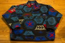 Patagonia Synchilla Fleece Mens 2XL T Snap Art Landscape Tribal Aztec *RARE*