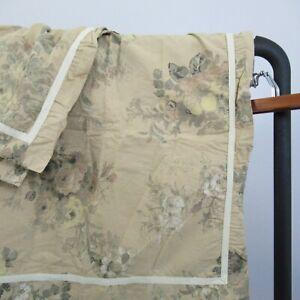 Chaps Ralph Lauren INVERNESS FLORAL King Pillow Sham Pair Brown Neutral Beige