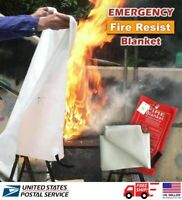 1m² Emergency Fire Blanket Quick Release In Case For Home Office Car US STOCK