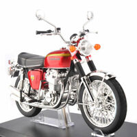 Diecast 1/12 Honda Dream CB750 Four Red Motorbike Model Car Aoshima Motorcycle
