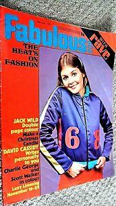 FABULOUS 208 WITH RAVE MAGAZINE: 20TH NOVEMBER 1971 (FAB 208) JACK WILD