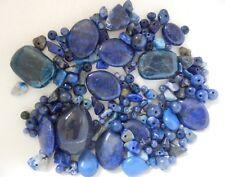 100+ bead,Blue Natural stone mix.Lapis Lazuli, Sodalite,Blue Apatite,Blue Agate.