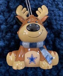 Dallas Cowboys Reindeer Christmas Holiday Tree Ornament FREE USA SHIPPING