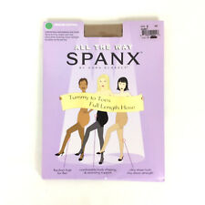 Spanx All The Way Pantyhose 008 Medium Control Tummy To Toes Nude1 Size E NEW