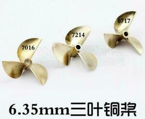 Quality 6717/ 7016 / 7214 3-Blade Bronze Propeller for Prop 1/4 6.35mm Shaft RC