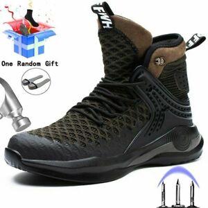 Zapatos De Seguridad Con Punta De Acero Para Hombre Botas Indestructible Trabajo