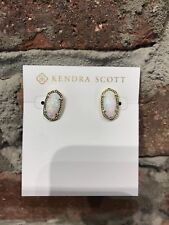 💖🌟NWT Kendra Scott Ellie Earrings in White Opal Gold 🌟💖