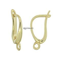 14kt Gold Plated Sterling Silver Leverback Earring Hook Earwire #97795