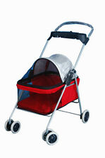 New listing RefurbishedBestPet Cute Red Posh Pet Stroller Dogs Cats