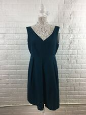 J.CREW Kami Dress Classic Faille 12 Teal cocktail bridesmaid