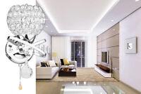 LED Modern Crystal Wall Lamp Sconce Light Bedroom Bedside Living Room Lighting