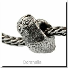 Authentic Trollbeads Sterling Silver 11516 Owl :1