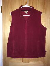 Woolrich Women's Large Fleece Vest Red L