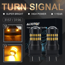 2X AUXITO 3157 3156 T25 Amber Yellow Turn Signa Light Bulbs CREE LED Lamp 48 SMD